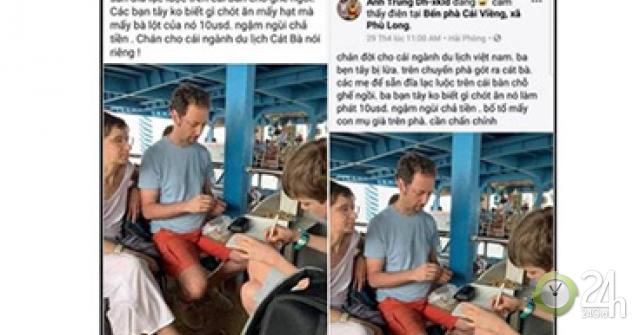 Xử lý tài khoản Facebook tung tin đĩa lạc giá 10 USD trên phà Gót Hải Phòng