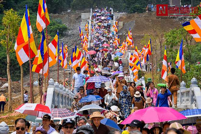 Độc đáo nghi lễ tắm Phật chùa Tam Chúc, mừng Đại lễ Phật đản Vesak 2019 - 10