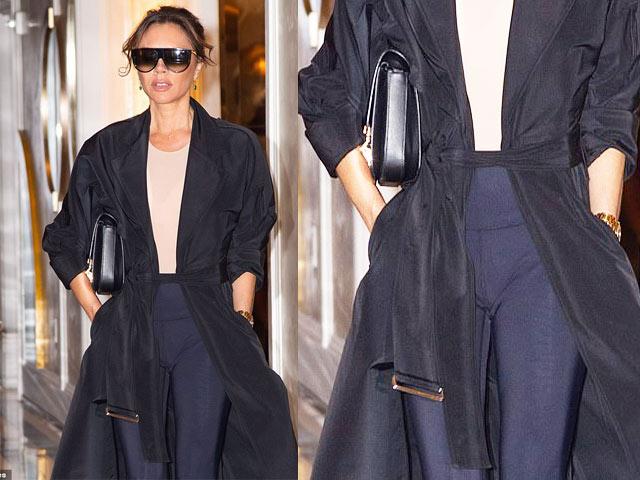 Sành điệu như Victoria Beckham vẫn mắc lỗi quần chẽn kỳ cục, kém duyên