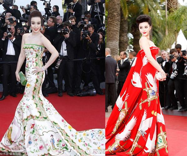 Mỹ nhân nào vượt Phạm Băng Băng trong cuộc chiến thời trang tại Cannes? - 2