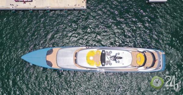 Cận cảnh siêu du thuyền của ông chủ Tottenham trên vịnh Hạ Long tuyệt đẹp