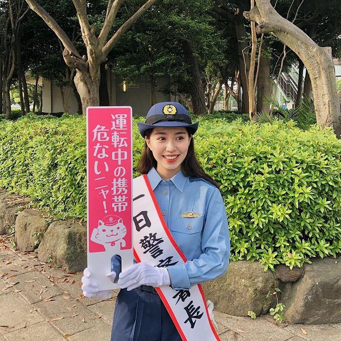 Nhan sắc hot girl Việt làm 'cảnh sát trưởng' ở Nhật Bản - 2