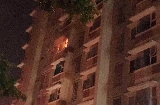 Cháy chung cư ở Sài Gòn lúc rạng sáng, cư dân gào khóc tháo chạy - 1