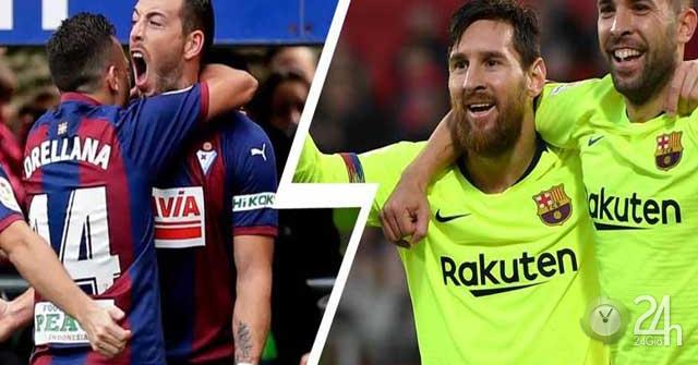 Trực tiếp Eibar - Barcelona: Messi rực sáng