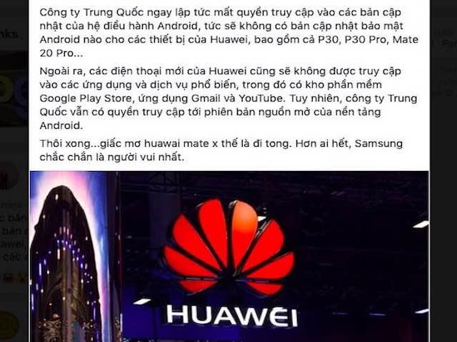 Google dọa chặn Huawei cập nhật Android, dân mạng Việt Nam nháo nhào