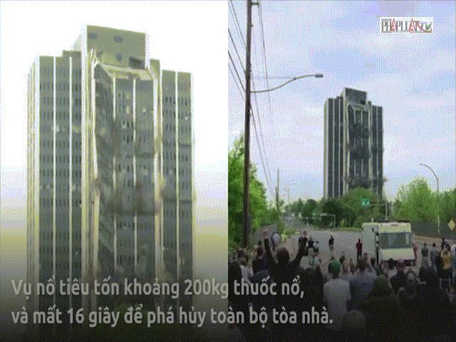Video: Khoảnh khắc tòa nhà 21 tầng ở Mỹ nổ tung, đổ sập