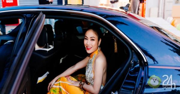 Không hở hang chơi trội, hoa hậu xứ Thanh gợi cảm với áo dài khoe lưng ở Cannes