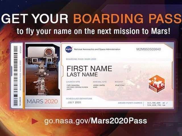 Nhanh tay đăng ký để trở thành 1 trong 1.000.000 cái tên xuất hiện trên Sao Hỏa