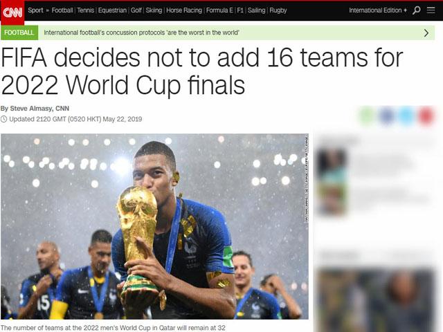 World Cup 2022 chỉ có 32 đội: Báo chí đi tìm nguyên nhân