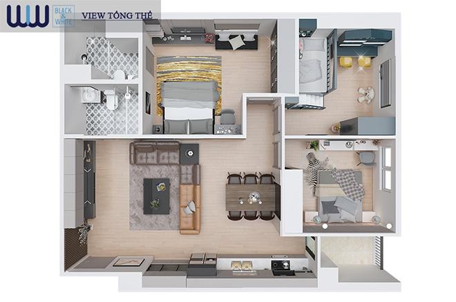 """"""" Biến hóa"""" căn hộ từ 2 phòng ngủ thành 3 phòng ngủ - Giải pháp chỉ có tại Eurowindow River Park - 2"""