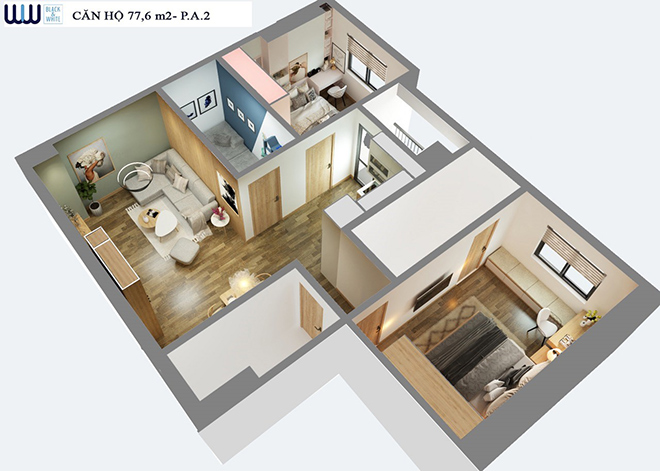 """"""" Biến hóa"""" căn hộ từ 2 phòng ngủ thành 3 phòng ngủ - Giải pháp chỉ có tại Eurowindow River Park - 3"""