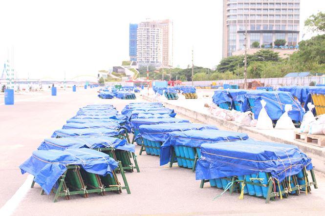 Cận ảnh trận địa pháo hoa Quốc tế Đà Nẵng trước giờ 'khai hỏa' - 4