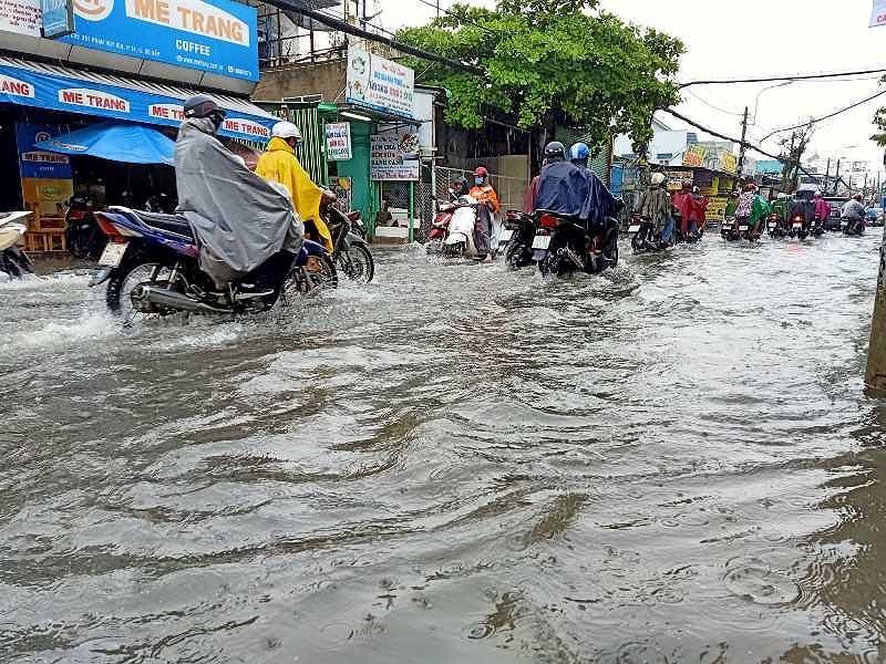 TP.HCM: Khổ sở vì cơn mưa đúng giờ tan tầm - 3