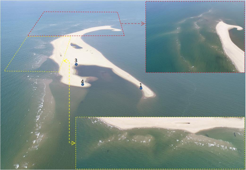 """""""Đảo khủng long"""" ở biển Cửa Đại nhìn từ Flycam: Đang hình thành các vịnh kín - 1"""