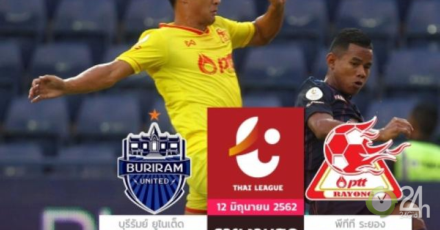 Buriram United - PTT Rayong: Tung đòn sắc lẹm, đội Xuân Trường hân hoan (Hiệp 1)-Bóng đá 24h