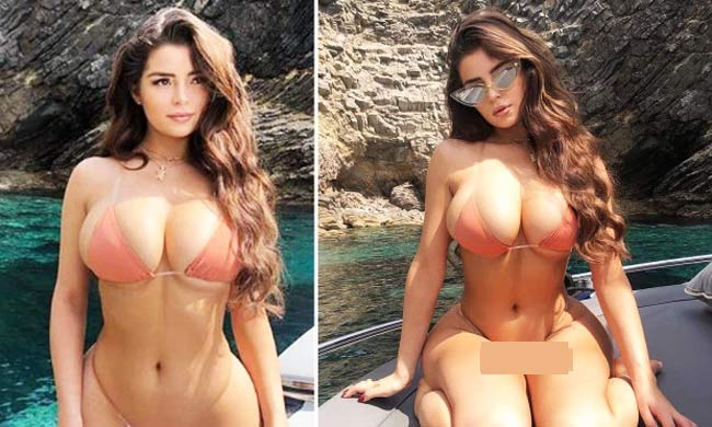 """Bikini dây bé xíu tàng hình thành cơn sốt nhờ """"nấm lùn xinh nhất nước Anh"""""""
