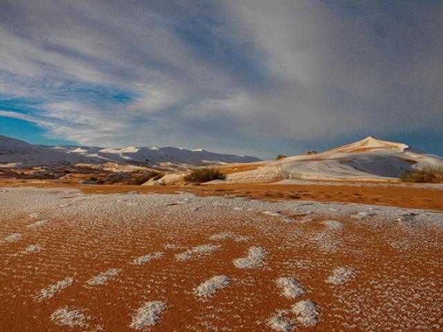 Nơi tuyết phủ trên sa mạc nóng nhất thế giới