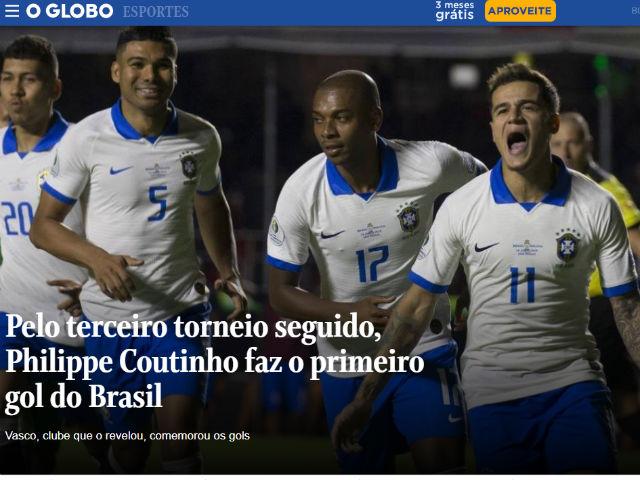 Brazil đại thắng Copa America: Báo chí