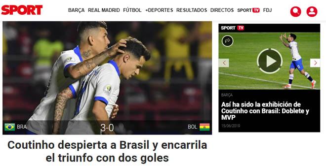 """Brazil đại thắng Copa America: Báo chí """"choáng"""" vì SAO Barca xuất sắc - 6"""