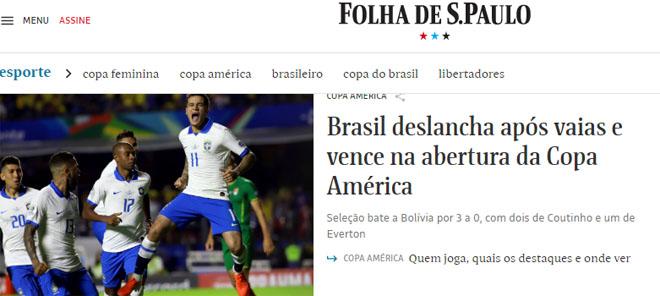 """Brazil đại thắng Copa America: Báo chí """"choáng"""" vì SAO Barca xuất sắc - 3"""