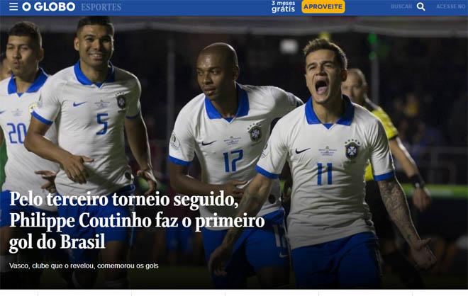 """Brazil đại thắng Copa America: Báo chí """"choáng"""" vì SAO Barca xuất sắc - 2"""