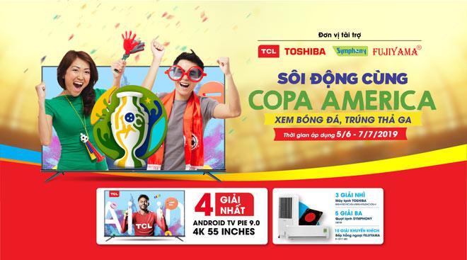 Giảm giá tivi đến 49%++ mừng lễ hội bóng đá Copa America - 2