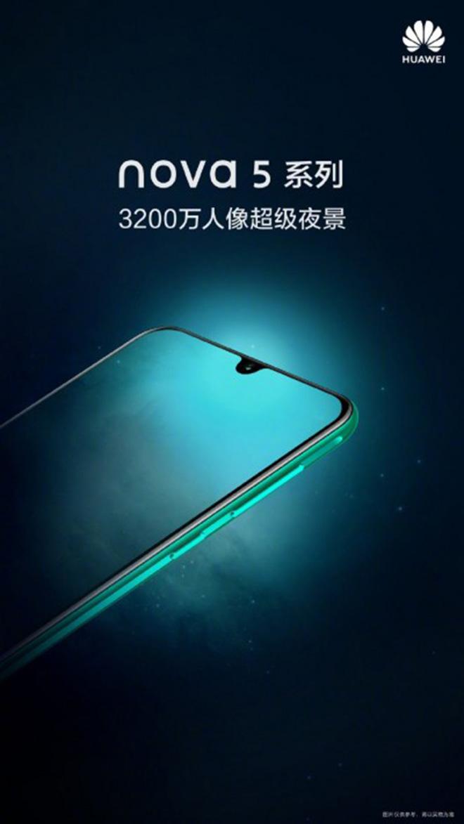 Huawei nova 5 có camera selfie 32 MP giọt nước thay vì đục lỗ - 1