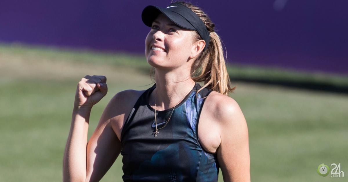 Nữ hoàng Sharapova trở lại đỉnh cao: Tung chiêu bóng xoáy chết cỏ