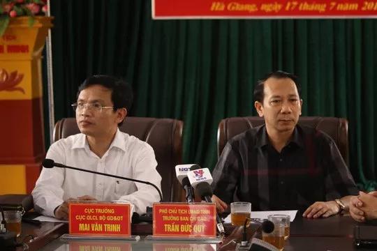 Vụ gian lận thi cử ở Hà Giang: Kỷ luật #34;cảnh cáo#34; Phó chủ tịch tỉnh và Cựu Giám đốc Sở GD-ĐT - 1