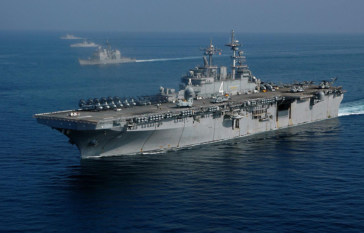 Hàng ngàn binh sĩ Mỹ cùng nhóm tàu đổ bộ áp sát Iran - 1