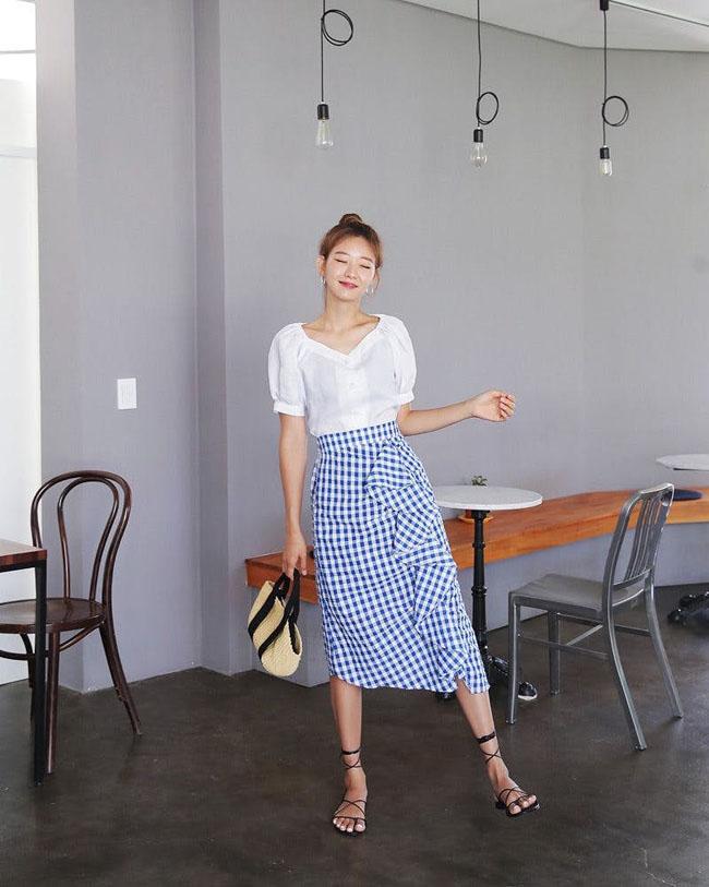 6 cách kết hợp trang phục màu xanh cho nàng công sở đẹp xuất sắc - 9
