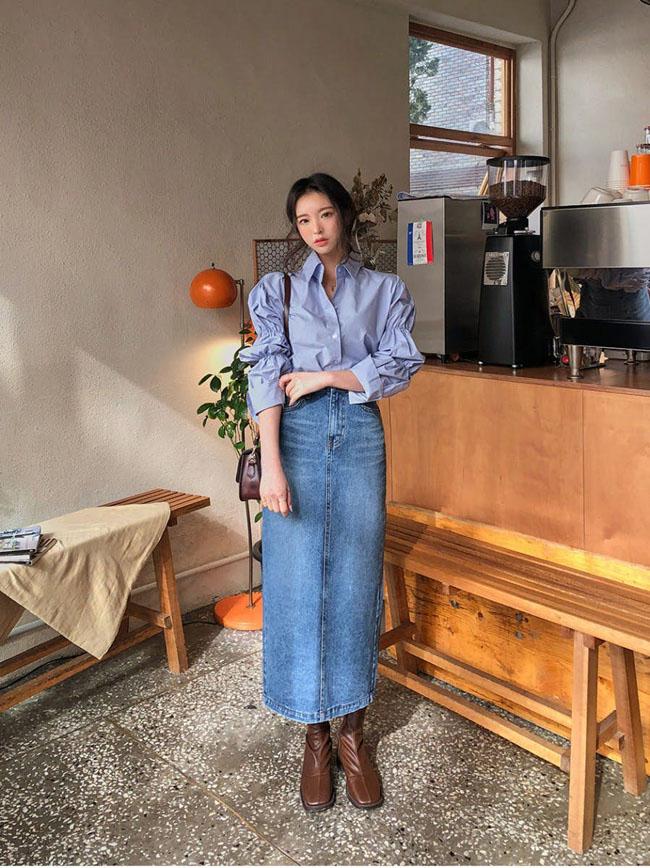 6 cách kết hợp trang phục màu xanh cho nàng công sở đẹp xuất sắc - 3