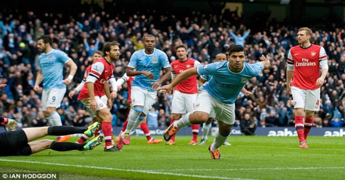 """Video highlight kinh điển: Man City - Arsenal rượt đuổi ở trận cầu """"điên"""" 9 bàn"""