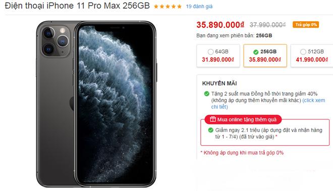iPhone tháng 4 đua nhau giảm, iPhone XS Max giảm tới 05 triệu - 2