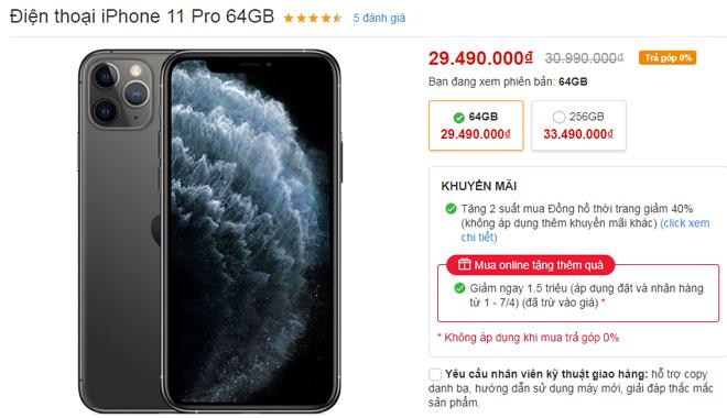 iPhone tháng 4 đua nhau giảm, iPhone XS Max giảm tới 05 triệu - 3