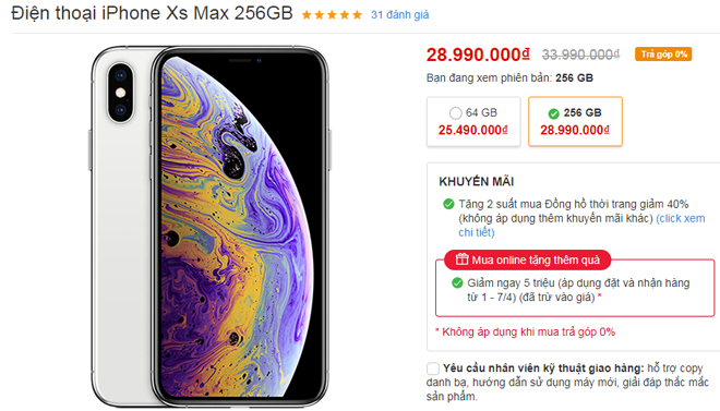 iPhone tháng 4 đua nhau giảm, iPhone XS Max giảm tới 05 triệu - 1