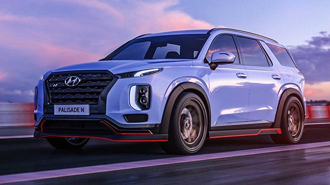 """Hyundai """"nhá hàng"""" phiên bản hiệu năng cao của dòng xe SUV Palisade - 1"""