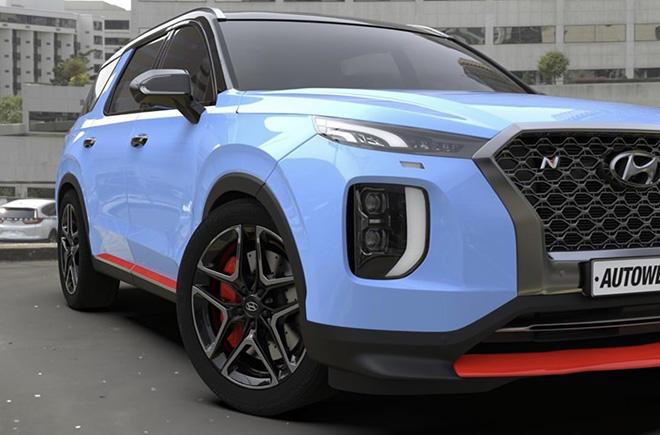 """Hyundai """"nhá hàng"""" phiên bản hiệu năng cao của dòng xe SUV Palisade - 3"""