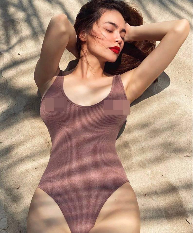 Hồ Ngọc Hà mặc đồ bơi lộ điểm nhạy cảm vẫn quyến rũ