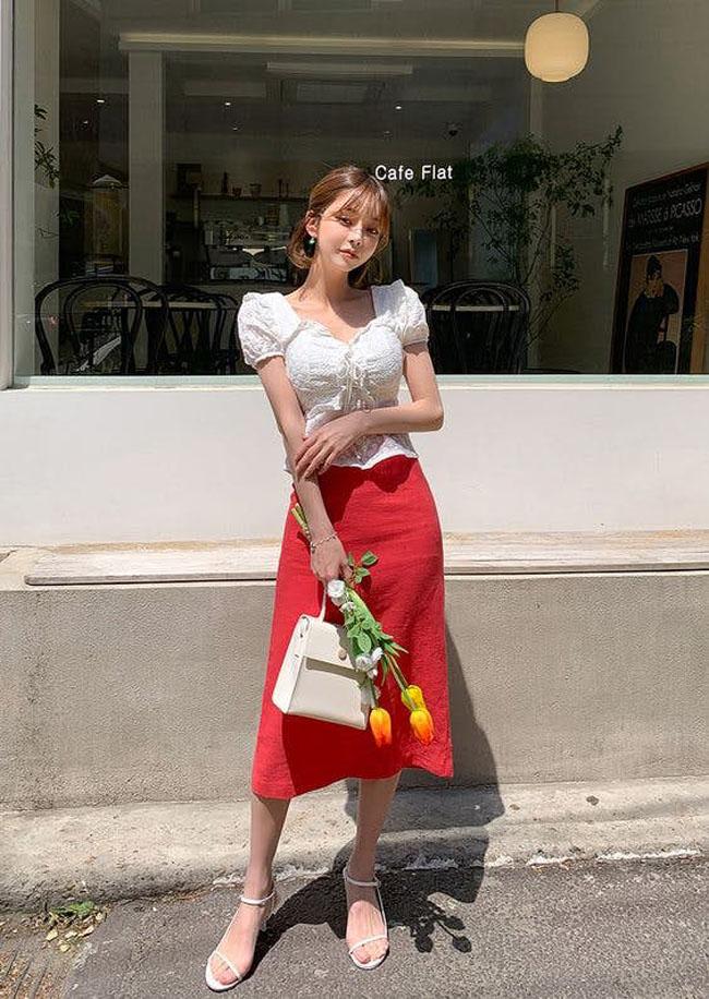 8 bí quyết giúp nàng diện chân váy midi lúc nào cũng đẹp hết nấc - 10