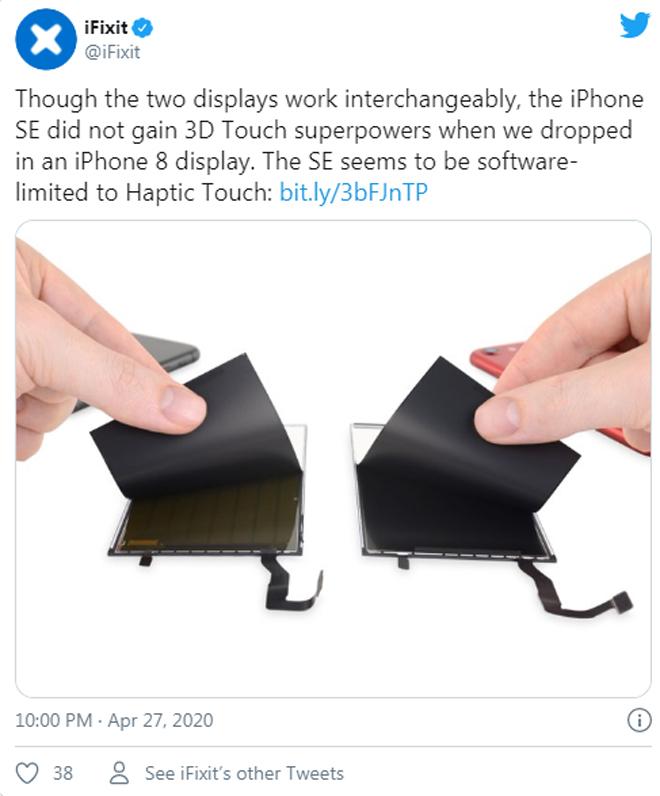 Cấu trúc iPhone SE 2020 giống 99% iPhone 8 nhưng không thể thay thế bộ phận này - 2