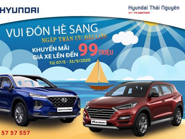 Hyundai Thái Nguyên giảm giá xe Santafe và Tucson cực sốc lên đến 99 triệu đồng!!