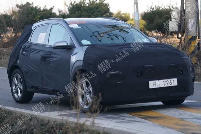 Hyundai Kona 2021 ngụy trang chạy thử, ra mắt cuối năm nay