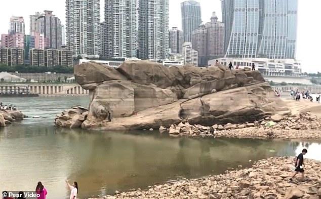 Du khách đổ xô đi xem rùa đá khổng lồ ở Trung Quốc - 3