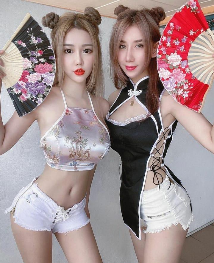 Trang phục gây xôn xao trên mạng xã hội: Áo yếm, sườn xám mặc cùng quần ngắn 20cm - 11
