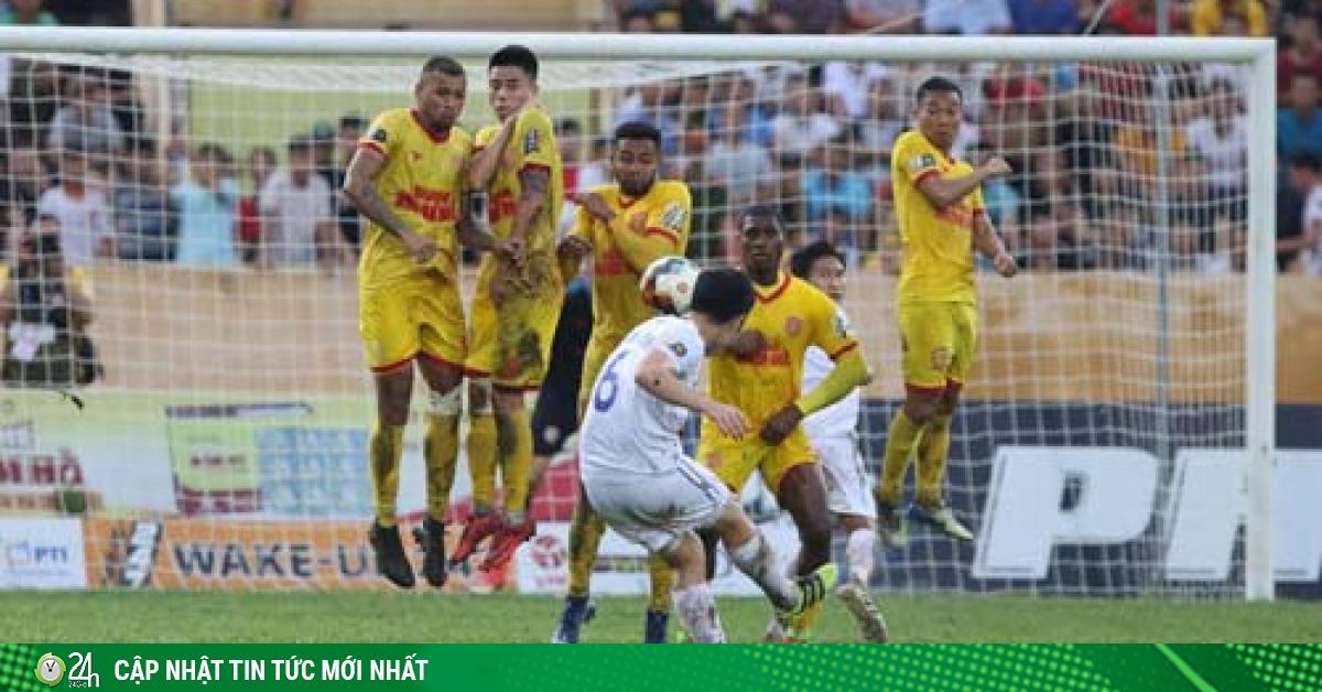 Lịch trực tiếp bóng đá hôm nay 23/5: Nam Định đấu HAGL chiếu kênh nào?
