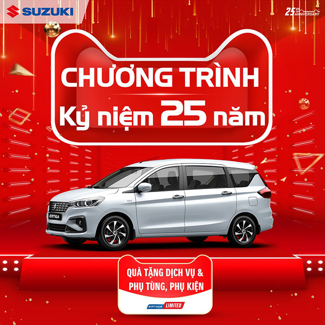 25 năm gắn kết yêu thương, Suzuki Việt Nam gửi quà tặng đặc biệt trong tháng 5 - 2