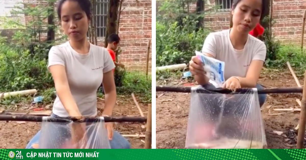 Dùng túi nilon nấu cá cực điệu nghệ, cô gái khiến dân mạng tròn mắt ngạc nhiên