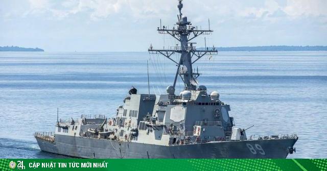 Tàu chiến Mỹ lại đụng độ lực lượng Trung Quốc gần Hoàng Sa