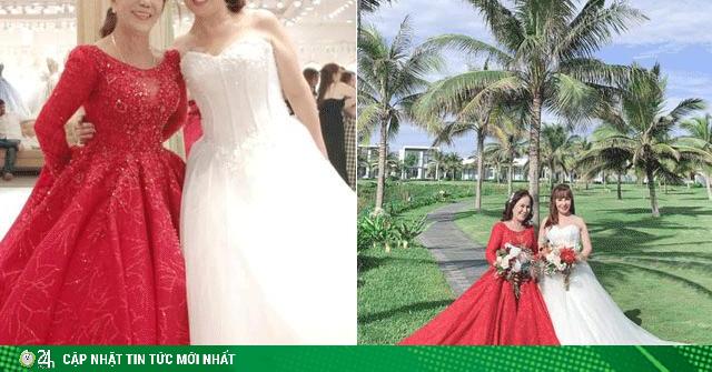 Cô dâu 62 tuổi và 65 tuổi chụp ảnh mặc váy cưới cùng nhau, diện mạo sau thẩm mỹ gây bất ngờ